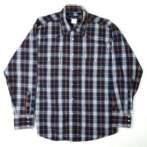 Wrangler Men's Western Pearl Snap Shirt Size:L